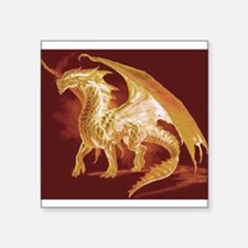 "Gold Dragon Square Sticker 3"" x 3"""