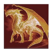 Gold Dragon Tile Coaster