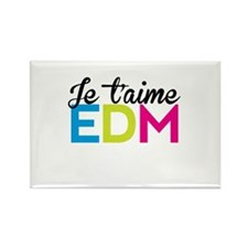 Je T'aime EDM Rectangle Magnet