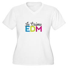 Je T'aime EDM Plus Size T-Shirt