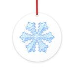 Flurry Snowflake XIII Ornament (Round)