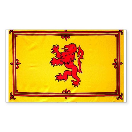 Scotland Lion Rampant Rectangle Sticker
