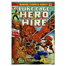 Luke Cage, Hero For Hire (Now Strikes The Man Call Poster