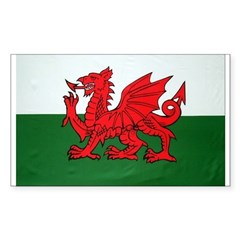 Wales Flag Rectangle Decal