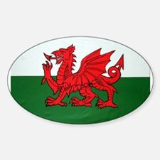 Wales Flag Oval Decal