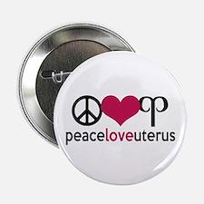 """Peace Love Uterus 2.25"""" Button"""