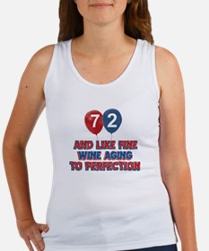 72 and aging to perfection Women's Tank Top