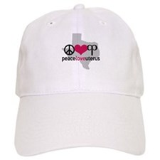 Peace Love Uterus TEXAS Baseball Baseball Cap