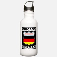 Chicago German American Sign Water Bottle