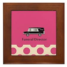 funeral director pink Framed Tile