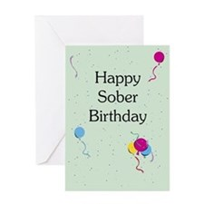 Greeting Card: Happy Sober Birthday