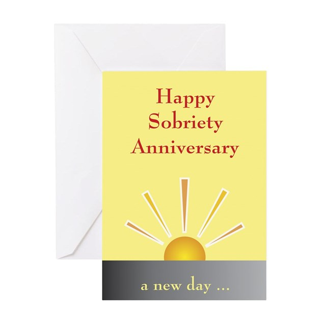 Greeting Card: Happy Sobriety Anniversary By RecoveryGiftShop