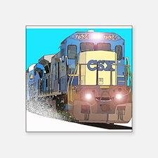 """CSX Train Square Sticker 3"""" x 3"""""""