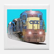 CSX Train Tile Coaster