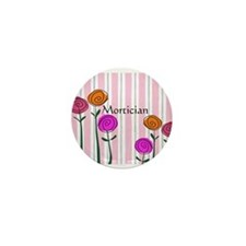 Mortician floral roses Mini Button