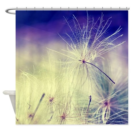 dandelion seeds shower curtain by inspiraimagephotography