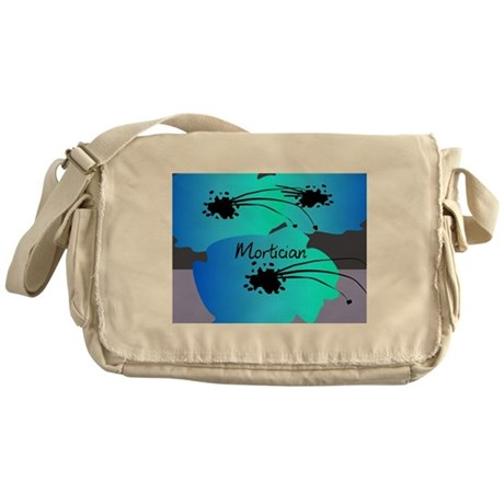 mortician floral blue Messenger Bag