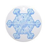 Flurry Snowflake XI Ornament (Round)