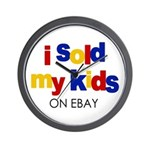 Sold Kids on Ebay Wall Clock