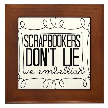 Scrapbookers Embellish Framed Tile
