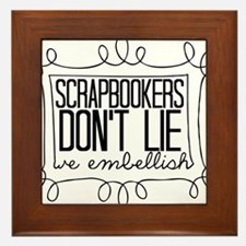 Scrapbookers Embellish Framed Tile