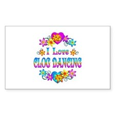I Love Clog Dancing Decal