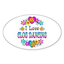 I Love Clog Dancing Decal