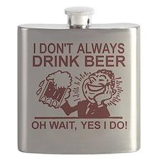 Always Drink Beer Flask