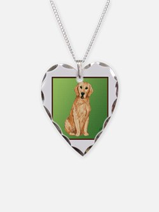 Golden Retriever Heart necklace