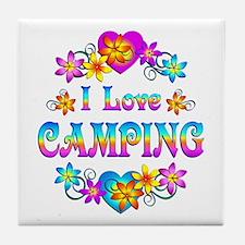 I Love Camping Tile Coaster