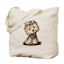 Tiny Heart Yorkie Tote Bag