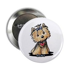 "Tiny Heart Yorkie 2.25"" Button (10 pack)"
