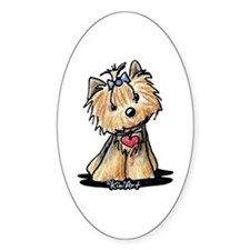 Tiny Heart Yorkie Decal