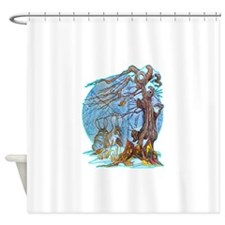 Christmas at Elf Hall Shower Curtain