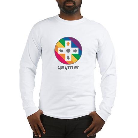 Gaymers, Rainbow D-Pad Long Sleeve T-Shirt