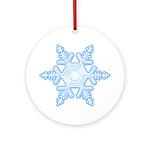 Flurry Snowflake X Ornament (Round)