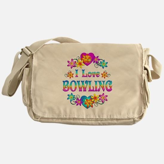 I Love Bowling Messenger Bag