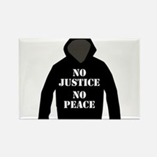 No Justice, No Peace Rectangle Magnet