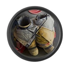 TURNOUT GEAR Large Wall Clock