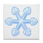 Flurry Snowflake IX Tile Coaster
