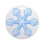 Flurry Snowflake IX Ornament (Round)