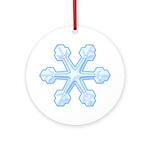 Flurry Snowflake IX Ornament (Round)
