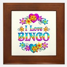 I Love Bingo Framed Tile