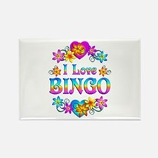 I Love Bingo Rectangle Magnet