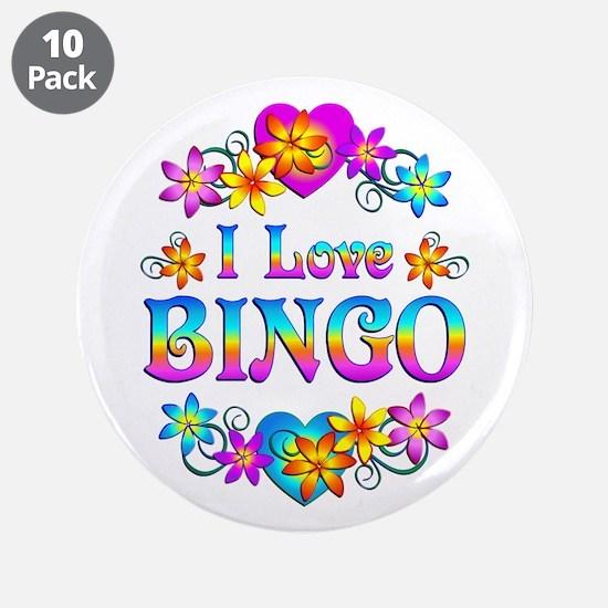 "I Love Bingo 3.5"" Button (10 pack)"