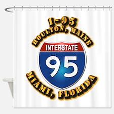 Interstate - 95 Shower Curtain