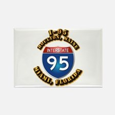 Interstate - 95 Rectangle Magnet (10 pack)