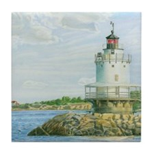 Spring Point Light Tile Coaster