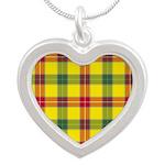 Tartan - Baxter Silver Heart Necklace