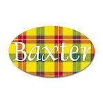 Tartan - Baxter 20x12 Oval Wall Decal